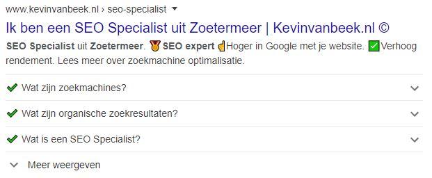 SEO Specialist Zoetermeer SERP